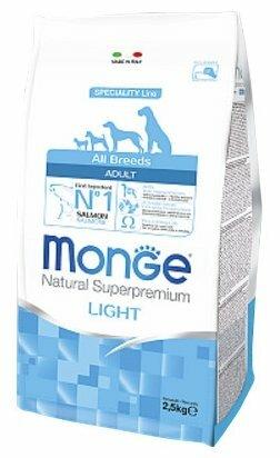 Корм для собак Monge Speciality line для здоровья кожи и шерсти, лосось с рисом 800г