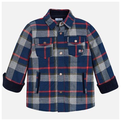 Купить Рубашка Mayoral размер 92, синий/серый/красный, Футболки и рубашки