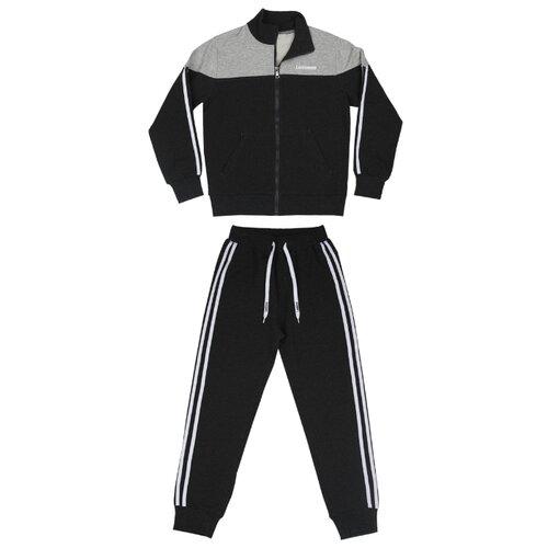 Купить Спортивный костюм Luminoso размер 146, темно-серый меланж/светло-серый меланж, Спортивные костюмы