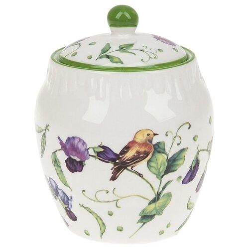 Сахарница Best Home Porcelain Луговой горошек 400 мл. белый/зеленый сахарница best home porcelain спелая клубника 300 мл
