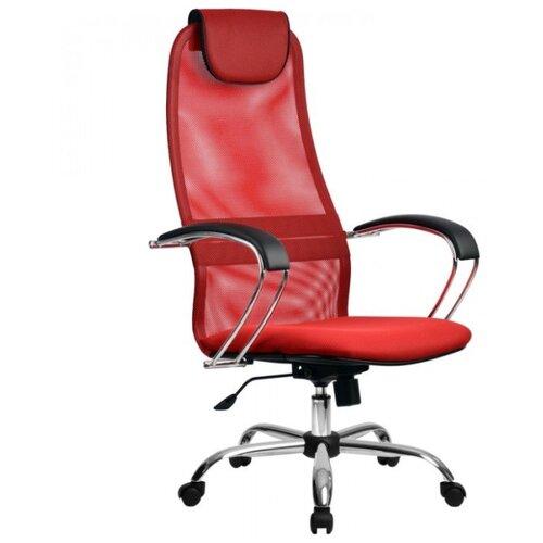 Компьютерное кресло Метта BK-8 Ch офисное, обивка: текстиль, цвет: 22-красный компьютерное кресло метта bp 2 pl офисное обивка натуральная кожа цвет 721 черный