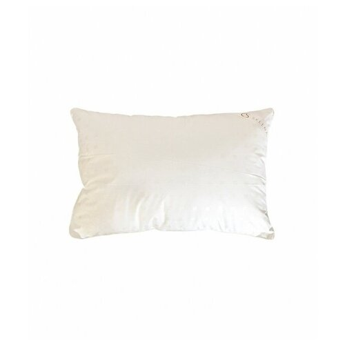 Подушка (зам леб пуха, тик) 40х60, белый квадратик
