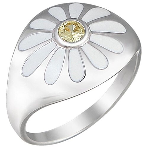 SOKOLOV Кольцо с 1 фианитом из серебра Р3К2501007Э, размер 18 фото