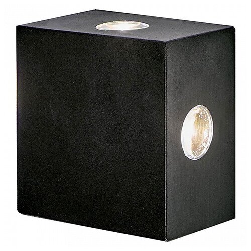 Elektrostandard Уличный настенный светильник Kvatra черный 1601 TECHNO LED бра elektrostandard 1585 techno led arkada черный