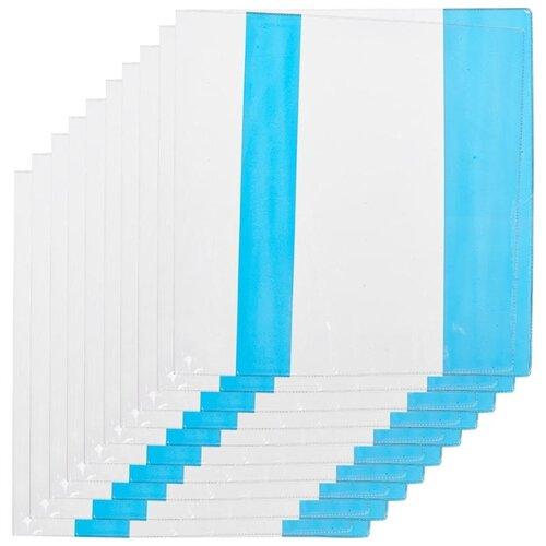 Купить №1 School Набор обложек для учебников с цветными клапанами 235х455 мм, 110 мкм, 10 штук ассорти, Обложки