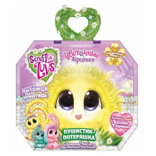 Игрушка Worlds Apart (Scruff a Luvs) Пушистик-Потеряшка пасхальный кролик Скраф Лав Blossom Bunnies в непрозрачной упаковке (желтый/голубой/розовый))