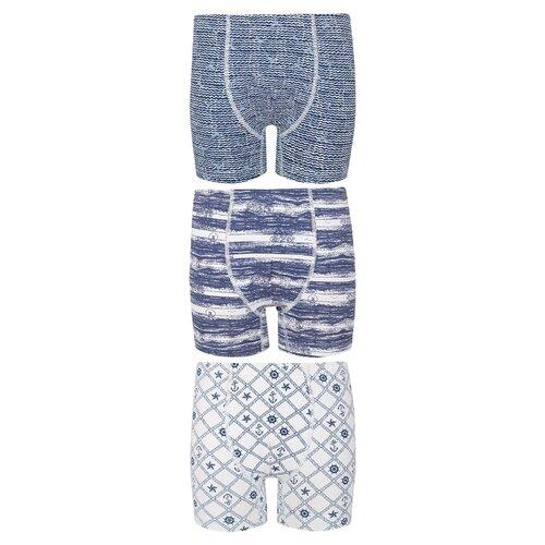 Купить Трусы BAYKAR 3 шт., размер 158/164, белый/голубой/синий, Белье и пляжная мода