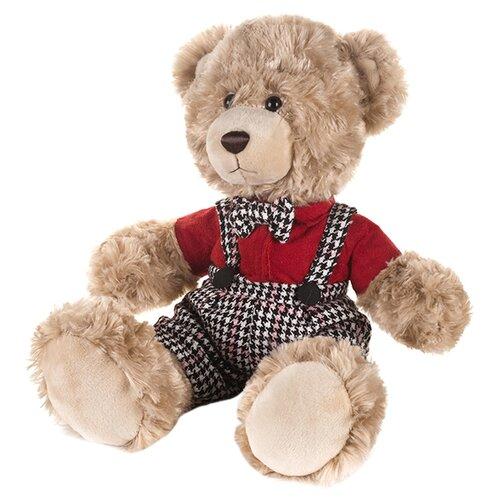 Мягкая игрушка Maxitoys Мишка Ричард в клетчатых штанишках и красной рубашке 20 см мягкая игрушка мишка бони maxitoys mt ts031208 50s искусственный мех трикотаж коричневый 50 см