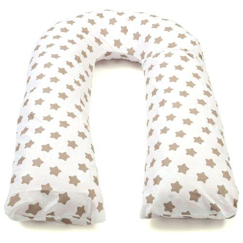 Купить Подушка Sonvol для беременных U 340 трансформер коричневые звезды, Подушки и кресла для мам