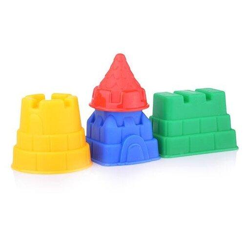 Купить Набор Нордпласт 431694 Башенки, синий/желтый/красный/зеленый, Наборы в песочницу
