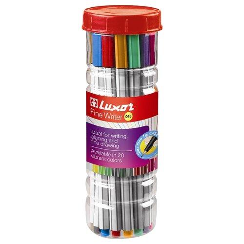 Фото - Luxor Набор капиллярных ручек Fine Writer 045, 20 цветов, 0,8 мм luxor набор капиллярных ручек luxor mini fine writer 045 20 цветов