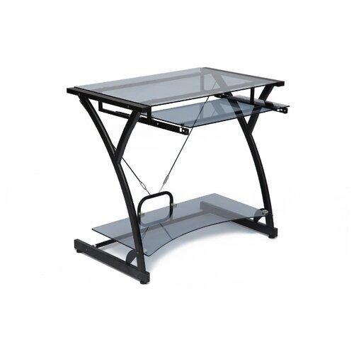 Компьютерный стол TetChair WRX-01, 82х50 см, цвет: стекло белое