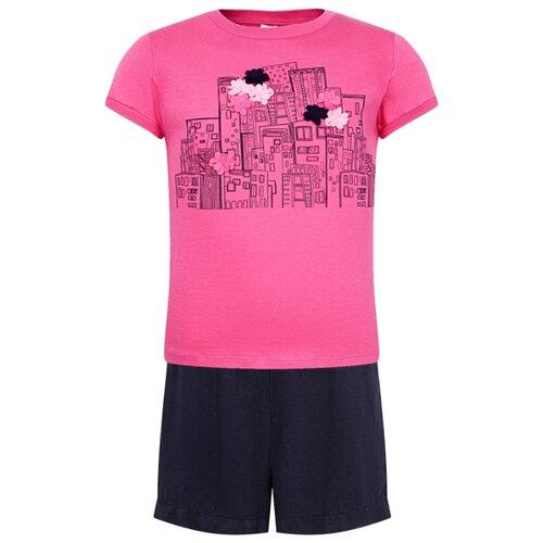 Комплект одежды Il Gufo размер 128, синий/розовый комплект одежды looklie размер 128 134 розовый