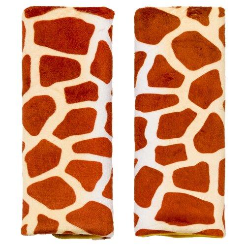 Купить Накладки на ремни Benbat Travel Friends для детей от 1 до 4 лет жираф, Аксессуары для колясок и автокресел