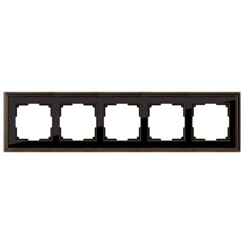 Фото - Рамка 5п WerkelWL17-Frame-05, бронза/чёрный рамка werkel antik бронза wl07 frame 02