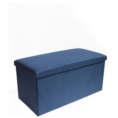 Пуфик с ящиком для хранения Удачная покупка RYP57-76 синий пуфик с ящиком для хранения удачная покупка ryp56 38 искусственная кожа черный