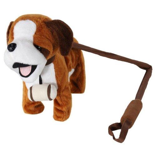 Фото - Мягкая игрушка Пушистые друзья Собачка на жестком поводке коричневая 22.5 см кмит елена пушистые друзья барашек бяша