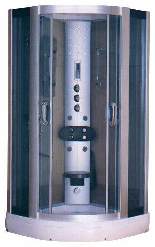 Душевая кабина Huber HX 415 с турецкой баней низкий поддон 90см*90см