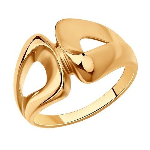 Diamant Кольцо из золочёного серебра 93-110-00641-1, размер 17.5