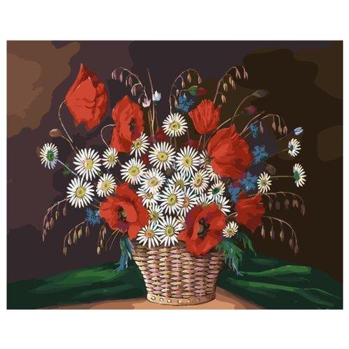 ВанГогВоМне Картина по номерам Корзина полевых цветов, 40х50 см (ZX 21504) картина по номерам вангогвомне рыцарский замок