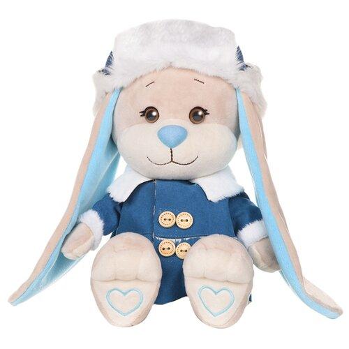 Купить Мягкая игрушка Jack & Lin Зайчик Жак в синей дубленке и шапке-ушанке 25 см, Мягкие игрушки