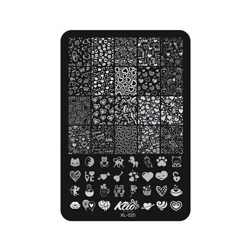 Трафарет KLIO Professional №020 11 х 15 см black