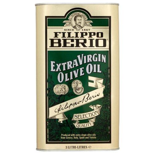 Filippo Berio масло оливковое Extra Virgin, жестяная банка, 3 л
