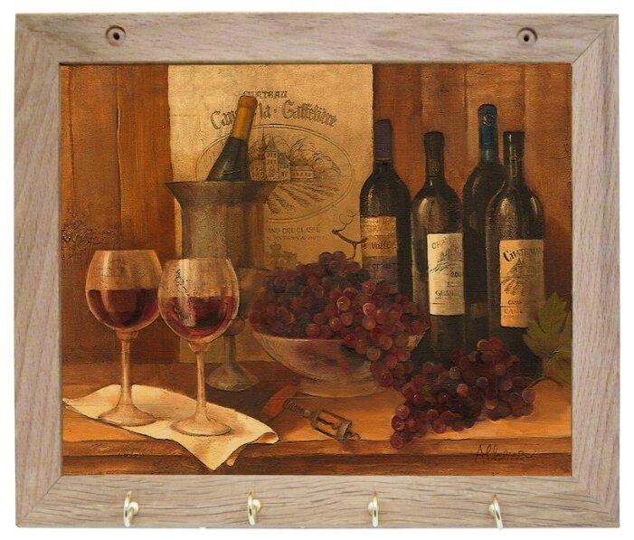 Вешалка Gift'n'Home для полотенец Винтажные вина 4 крючка