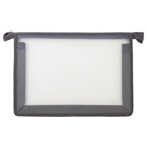 Купить Пифагор Пифагор Папка для тетрадей А4, молния сверху, прозрачная серый, Файлы и папки