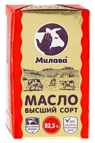 Милава Масло Сладкосливочное несоленое 82.5%, 180 г