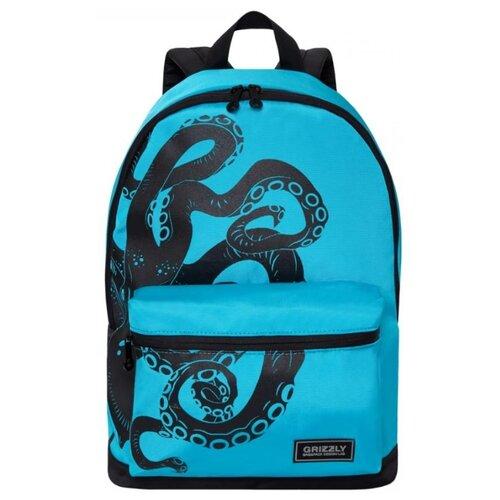 Рюкзак Grizzly RQ-007-5/1 20 (голубой-черный) grizzly rq 007 8 рюкзак 2 синий