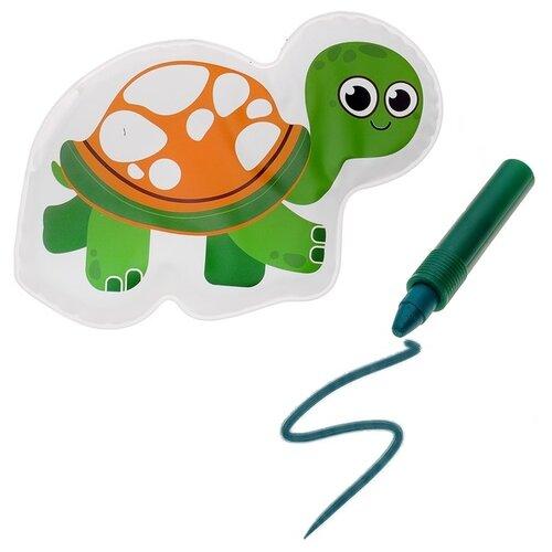 Купить Набор для ванной Крошка Я Черепашка + водный карандаш (3045299) зеленый, Игрушки для ванной
