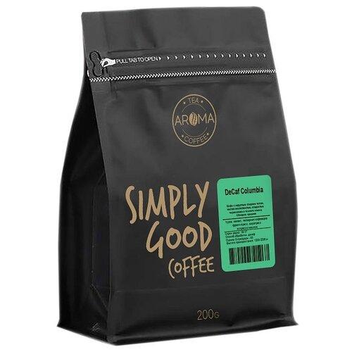 Кофе в зернах Aroma DeCaf Columbia без кофеина арабика 200 г.