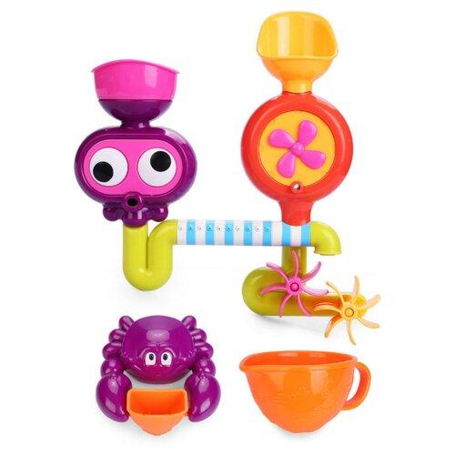 Игрушка для ванной Happy Baby Eureka (32005) оранжевый/фиолетовый цена 2017