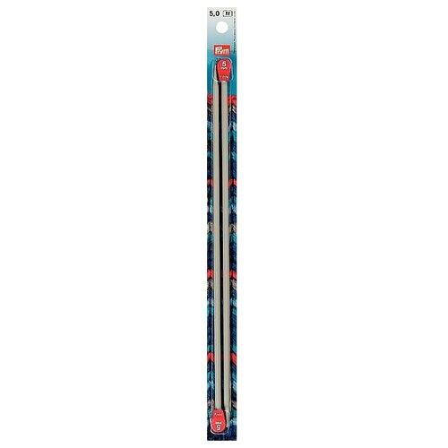 Спицы Prym алюминиевые, диаметр 5 мм, длина 30 см, жемчужно-серый