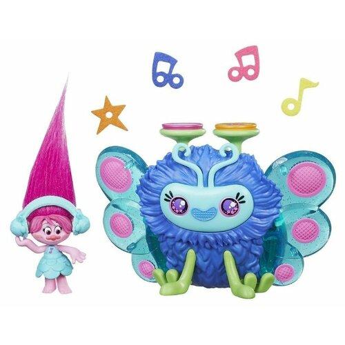Игровой набор Hasbro Trolls Диджей Баг B9885 hasbro игровой набор trolls тролли с супер длинными волосами голубой тролль