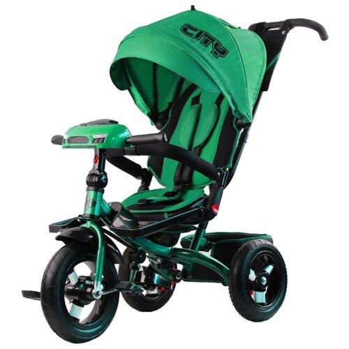 Трехколесный велосипед CITY H5 зеленыйТрехколесные велосипеды<br>