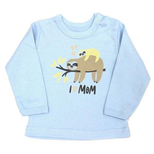 штанишки для мальчика веселый малыш one цвет голубой 33150 one c 1 размер 68 Лонгслив Веселый Малыш размер 68, голубой