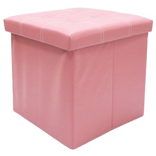 Пуфик с ящиком для хранения Удачная покупка RYP56-38 искусственная кожа розовый пуфик с ящиком для хранения тематика складной рогожка коричневый