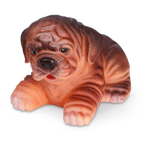 Купить Игрушка для ванной ОГОНЁК Щенок Бруно (С-589) коричневый, Игрушки для ванной