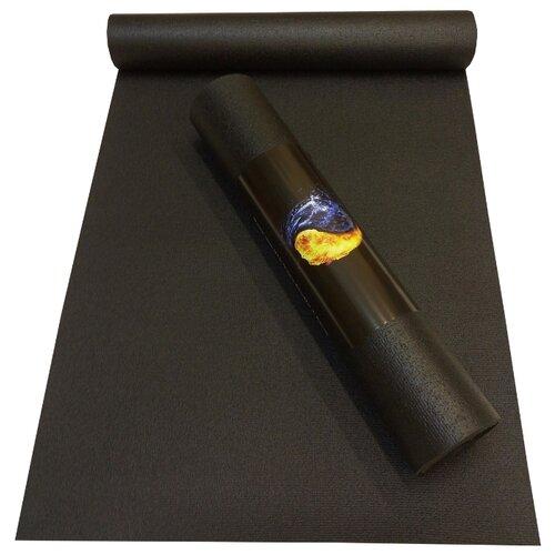 Коврик (ДхШхТ) 173х60х0.45 см AKO YOGA Yin-Yang Studio черный однотонный
