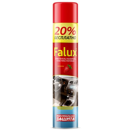 PLEX Очиститель-полироль салона автомобиля Falux Клубника plex очиститель многофункциональный для салона автомобиля effect spray 0 65 л