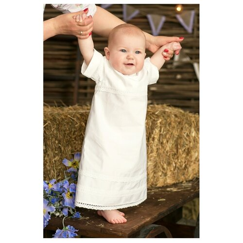 Рубашка Alivia Kids размер 3-6 мес, белый