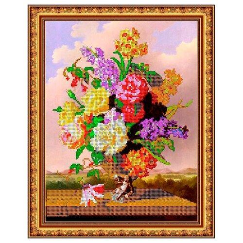 Светлица Набор для вышивания бисером Поэзия цветов 30,9 х 25 см, бисер Чехия (281)