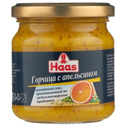 Горчица Haas С апельсином, 210 г горчица haas домашняя 200 г
