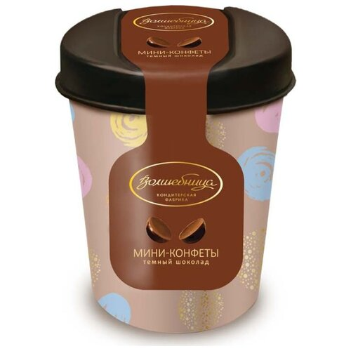 Набор конфет Волшебница конфеты темный шоколад 60г коричневый
