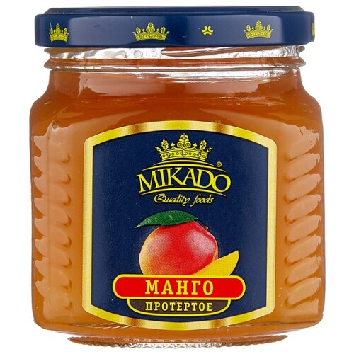 Протертая ягода Mikado манго, банка 320 г