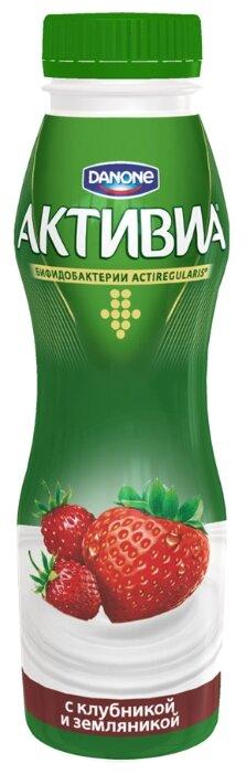 Питьевой йогурт Активиа клубника-земляника 2%, 290 г