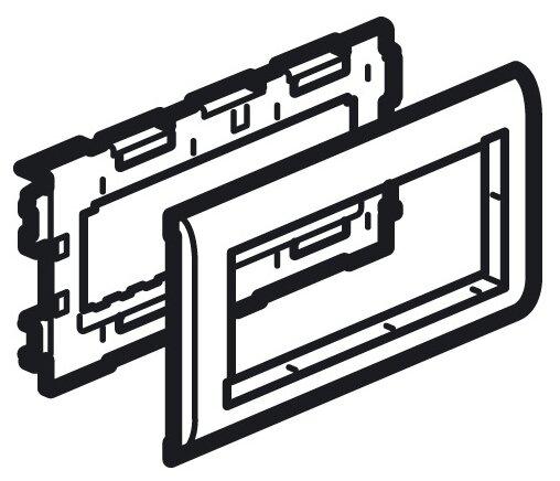 Лицевая накладка/ суппорт с рамкой для монтажа эуи в настенном кабель-канале Legrand 638004