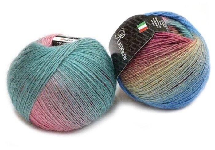 Купить Пряжа Seam Rainbow, цвет Розовый-голубой-бирюзовый, 2 мотка по низкой цене с доставкой из Яндекс.Маркета (бывший Беру)